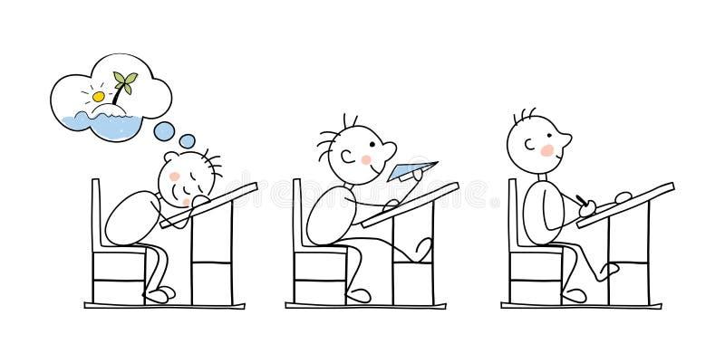Σπουδαστές στην τάξη διανυσματική απεικόνιση