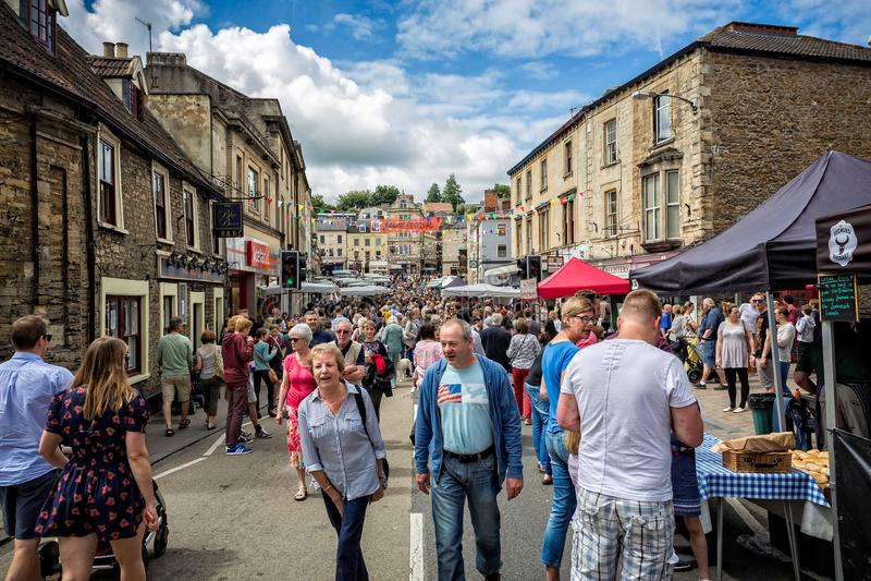 Στάβλοι της αγοράς της Κυριακής Frome στην αγορά στοκ εικόνες με δικαίωμα ελεύθερης χρήσης