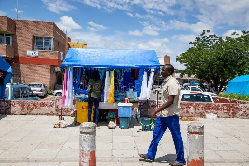 Στάβλος οδών στη Μποτσουάνα στοκ φωτογραφία