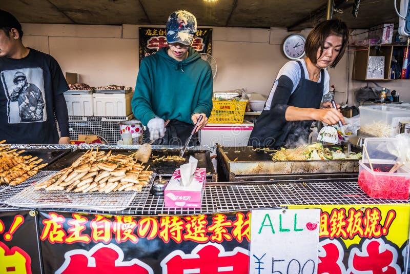 Στάβλος τροφίμων οδών Apanese στοκ εικόνα με δικαίωμα ελεύθερης χρήσης