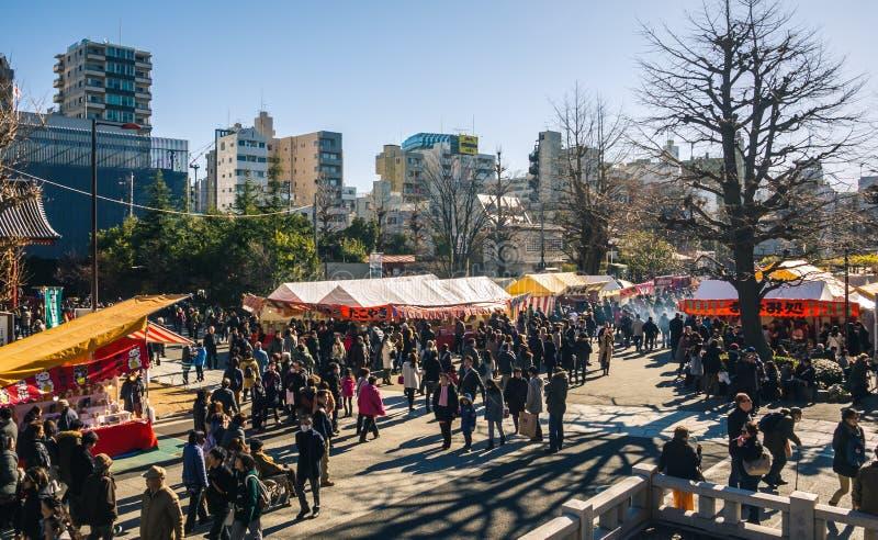 Στάβλοι τροφίμων φεστιβάλ, Τόκιο στοκ φωτογραφίες