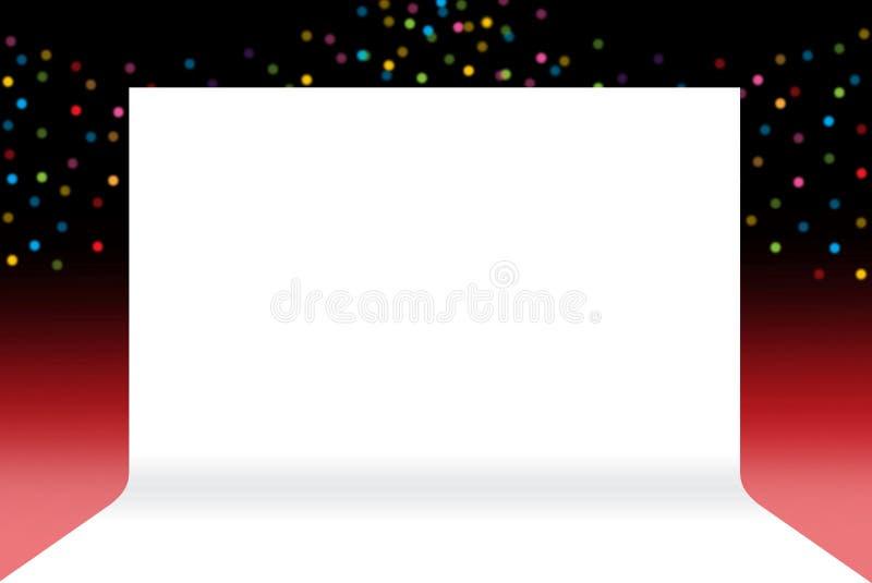 Στάδιο εμβλημάτων, κενό της σκηνικής Λευκής Βίβλου σκηνικού στην πολυτέλεια bokeh διανυσματική απεικόνιση