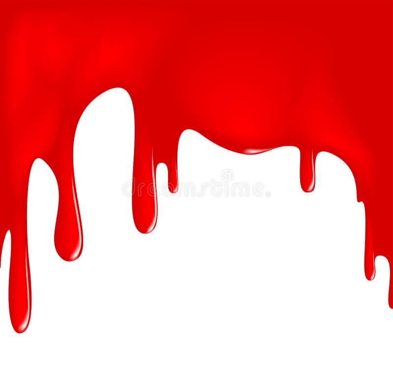 Στάζοντας κόκκινο χρώμα ελεύθερη απεικόνιση δικαιώματος