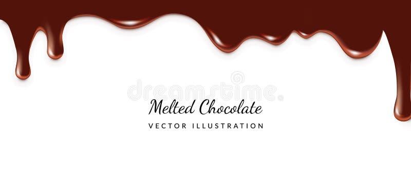 Στάζοντας λειωμένη σοκολάτα απεικόνιση αποθεμάτων