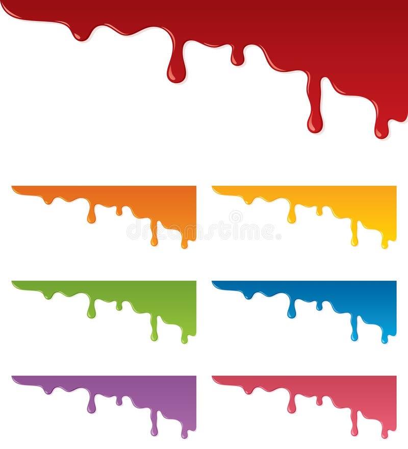 Στάζοντας χρώμα διανυσματική απεικόνιση