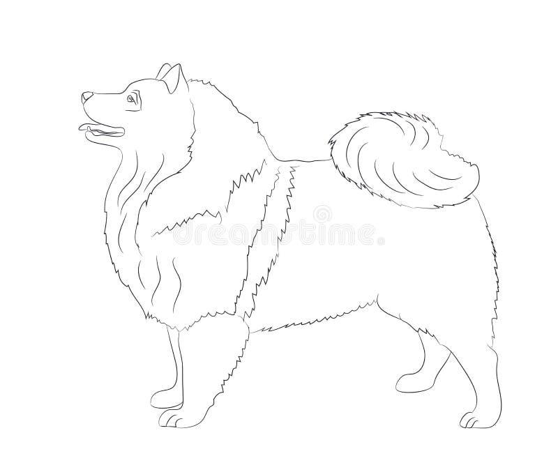 Στάσεις σκυλιών, γραμμές, διάνυσμα διανυσματική απεικόνιση