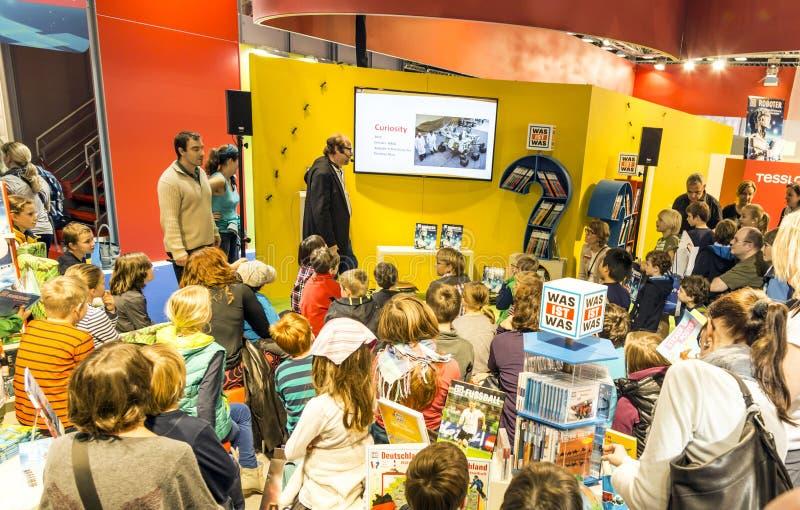 Στάση έκθεσης στην έκθεση 2014 βιβλίων της Φρανκφούρτης στοκ φωτογραφίες