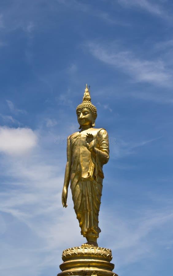 Στάση αγαλμάτων του Βούδα στοκ εικόνες