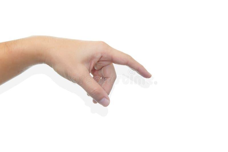 Στάση αφής σημείου δάχτυλων χεριών στοκ φωτογραφία