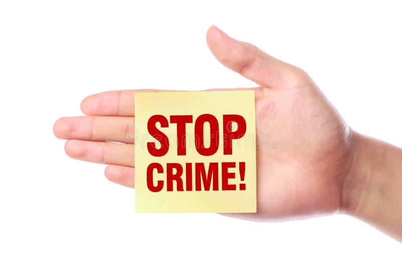 στάση εγκλήματος στοκ φωτογραφία με δικαίωμα ελεύθερης χρήσης