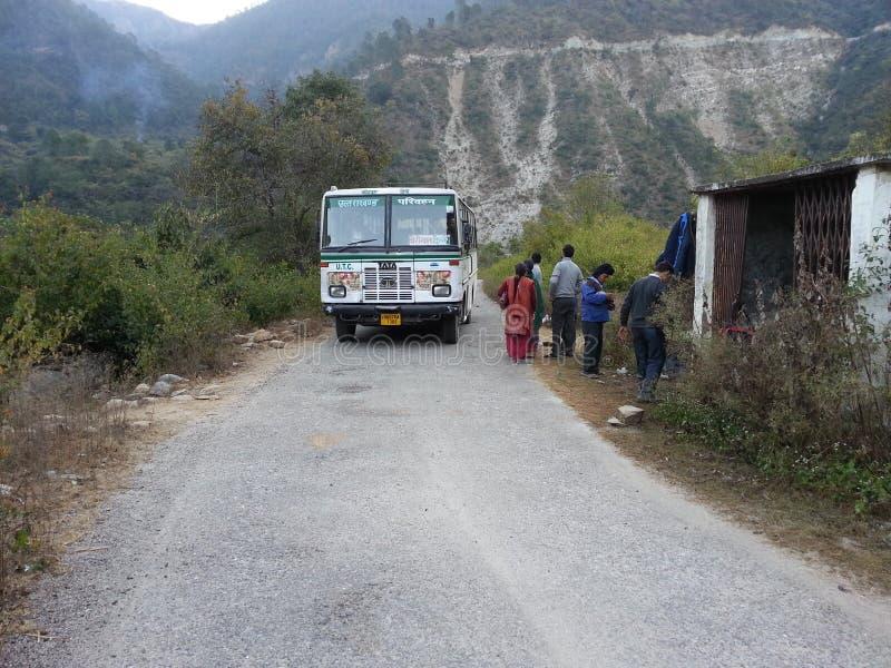 Στάση λεωφορείου στο uttarakhand Ινδία στοκ εικόνα με δικαίωμα ελεύθερης χρήσης