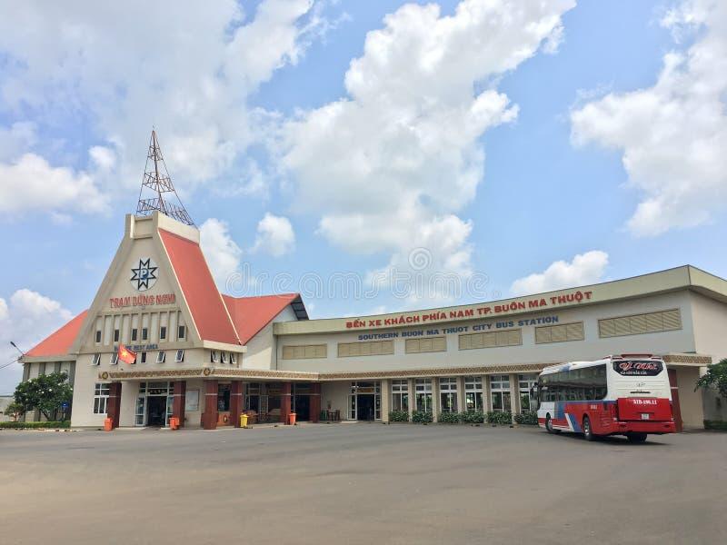 Στάση λεωφορείου Buon μΑ Thuot, επαρχία LAK Dak, Βιετνάμ στοκ εικόνες