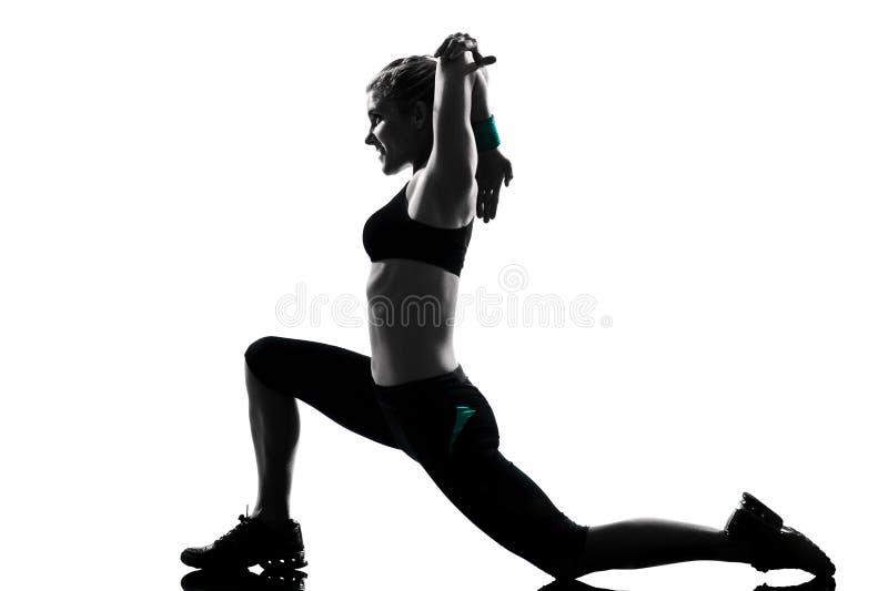 Στάση ικανότητας γυναικών workout στοκ εικόνα με δικαίωμα ελεύθερης χρήσης