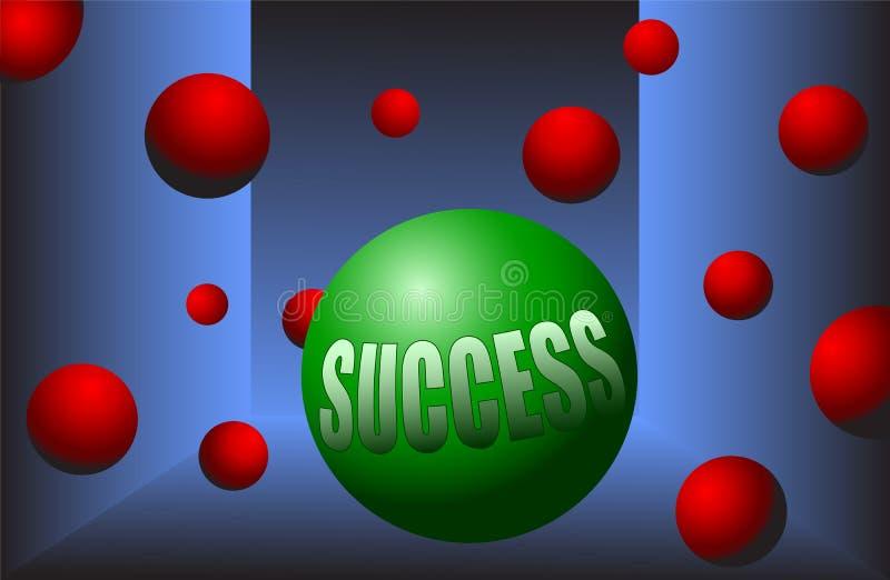 Στάση κινήτρου σφαιρών επιτυχίας έξω από το διάνυσμα πλήθους απεικόνιση αποθεμάτων