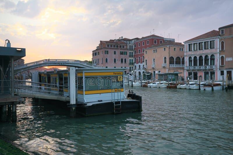 Στάση λεωφορείου νερού της Βενετίας στοκ εικόνα