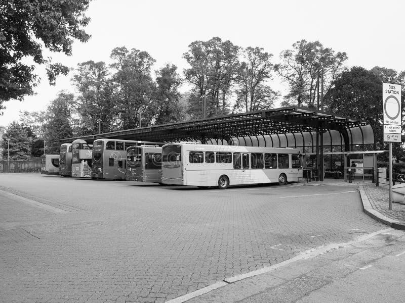 Στάση λεωφορείου στο Καίμπριτζ σε γραπτό στοκ φωτογραφίες με δικαίωμα ελεύθερης χρήσης