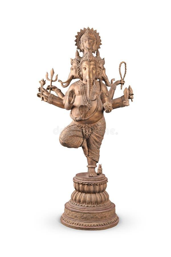 Στάση Λόρδου Ganesha που απομονώνεται στο λευκό στοκ εικόνες