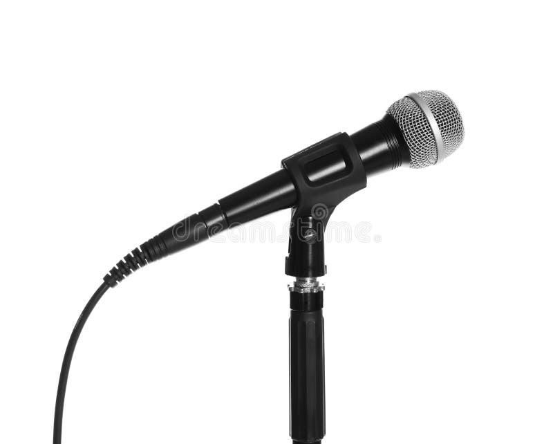 Στάση με το σύγχρονο μικρόφωνο στοκ φωτογραφίες με δικαίωμα ελεύθερης χρήσης