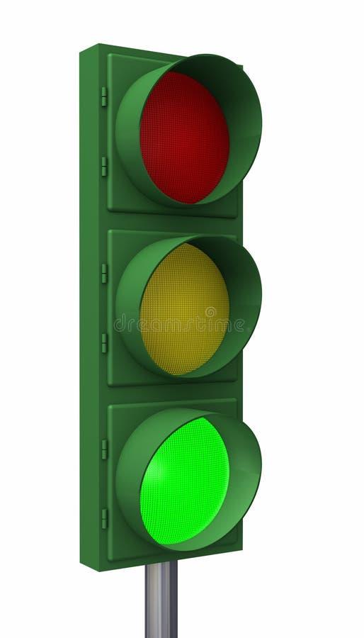 στάση πράσινου φωτός διανυσματική απεικόνιση