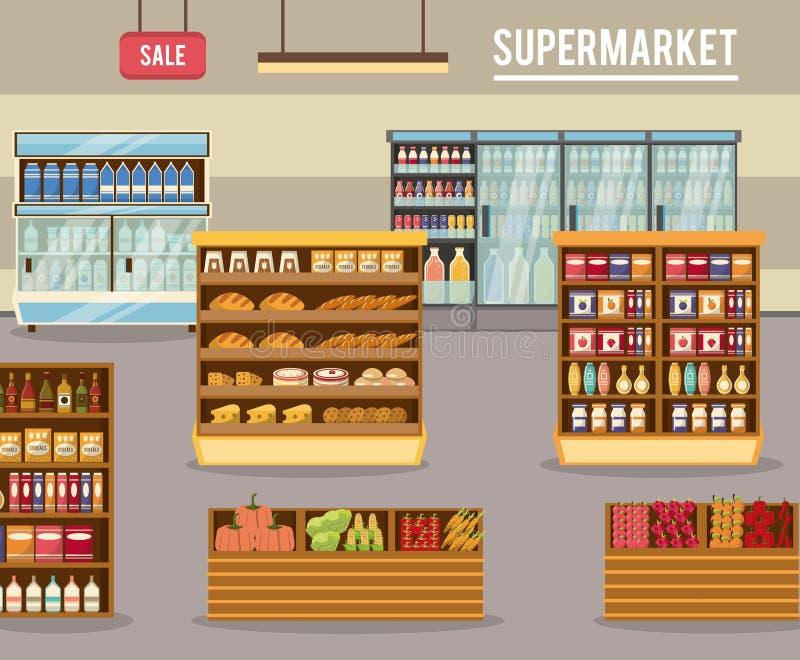 Στάση πώλησης υπεραγορών ελεύθερη απεικόνιση δικαιώματος