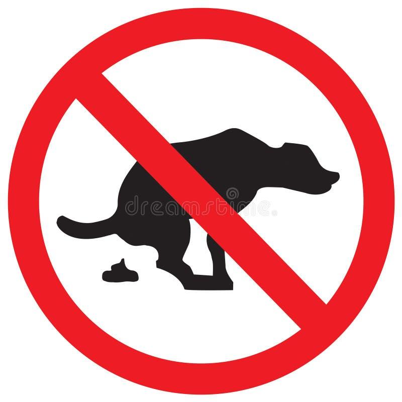 στάση σημαδιών σκυλιών διανυσματική απεικόνιση