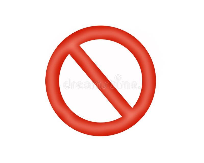 Στάση σημαδιών φωτεινό κόκκινο χρώμα ελεύθερη απεικόνιση δικαιώματος