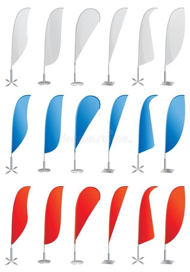 στάση σημαιών παρουσίασης παραλιών εμβλημάτων ελεύθερη απεικόνιση δικαιώματος