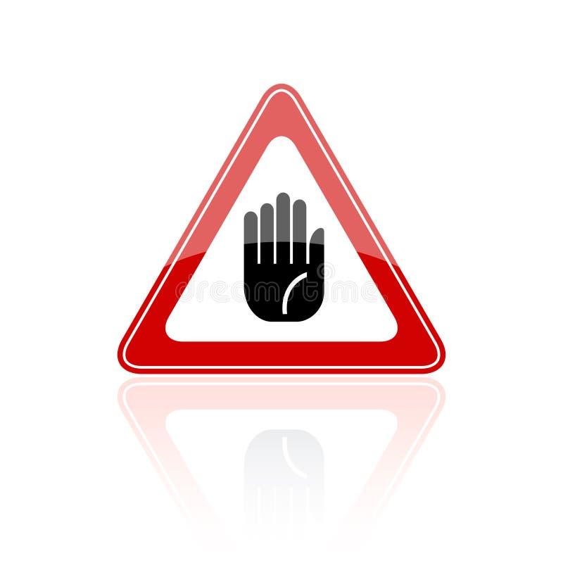 στάση σημαδιών χεριών διανυσματική απεικόνιση