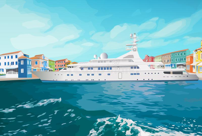 Στάση σκαφών θάλασσας ελεύθερη απεικόνιση δικαιώματος