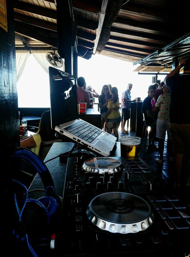Στάση του DJ στοκ φωτογραφία