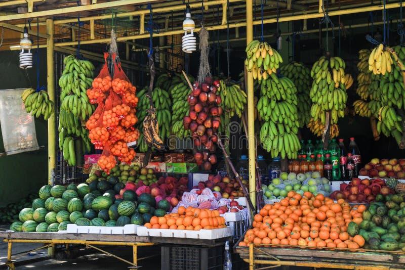 Στάση φρούτων στη Σρι Λάνκα στοκ φωτογραφία