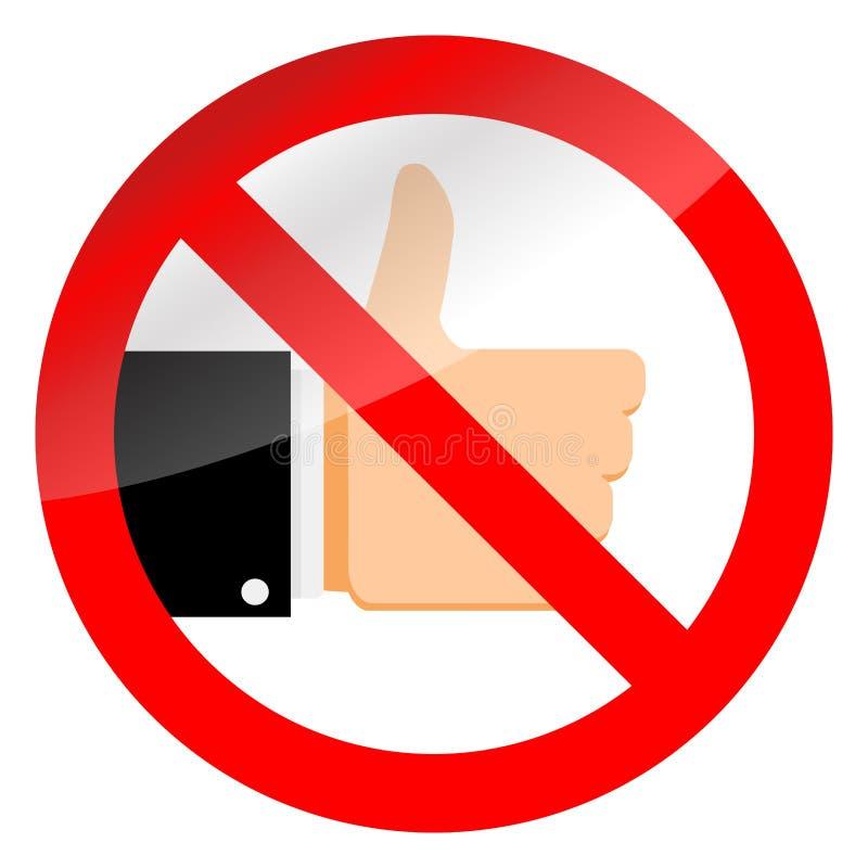Στάση όπως τα κοινωνικά μέσα σημαδιών και απαγόρευσης διανυσματική απεικόνιση