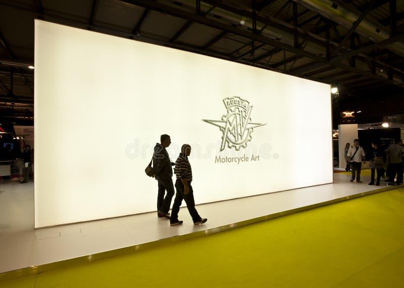 στάση eicma agusta του 2010 στοκ εικόνα με δικαίωμα ελεύθερης χρήσης