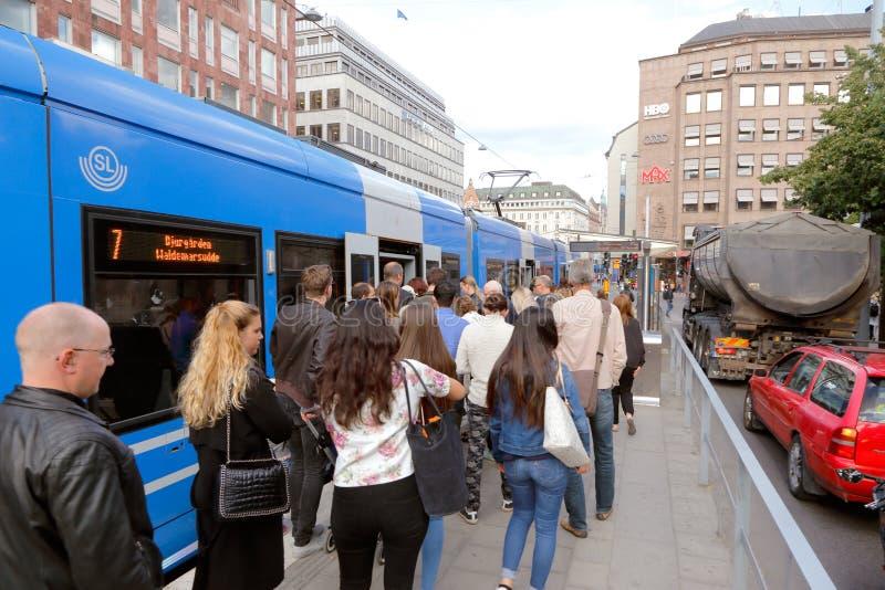 Στάση Kungstradgarden τραμ στοκ εικόνες