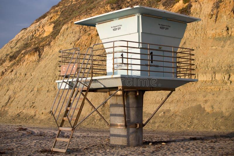 Download Στάση Lifeguard παραλιών πεύκων Torrey Στοκ Εικόνα - εικόνα από καλιφόρνια, ηλιοβασίλεμα: 62714831