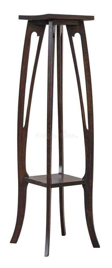 Στάση Nouveau τέχνης, ξύλινη παλαιά παλαιά στήλη βάθρων για τα αγάλματα εσωτερικού στοκ εικόνες με δικαίωμα ελεύθερης χρήσης