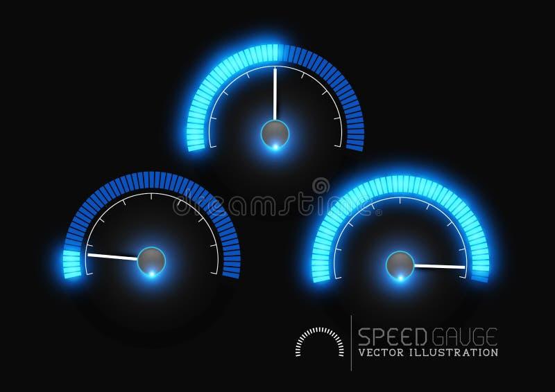 Στάδια μετρητών μετρητών δύναμης διανυσματική απεικόνιση
