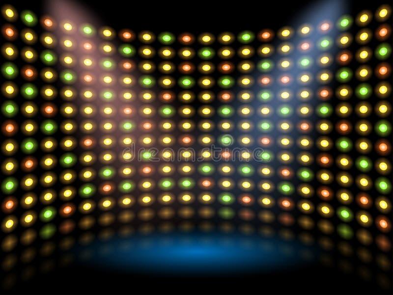Στάδιο απόδοσης με το lightbulb ελεύθερη απεικόνιση δικαιώματος