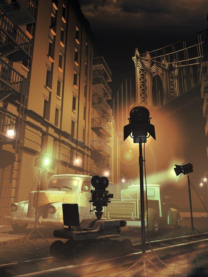 Στάδιο κινηματογράφων τη νύχτα απεικόνιση αποθεμάτων