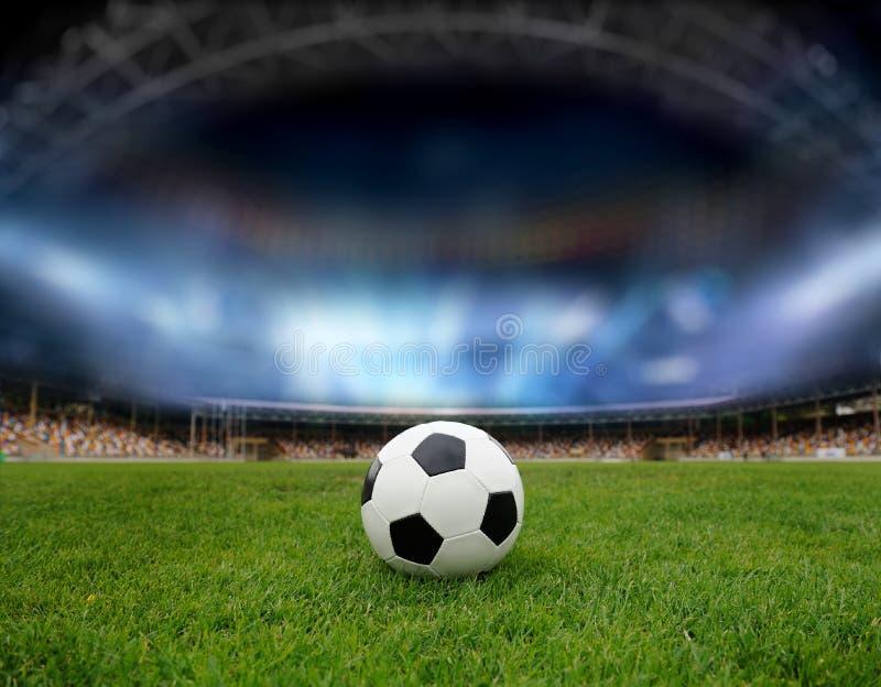 στάδιο ποδοσφαίρου πεδίων σφαιρών στοκ φωτογραφίες με δικαίωμα ελεύθερης χρήσης
