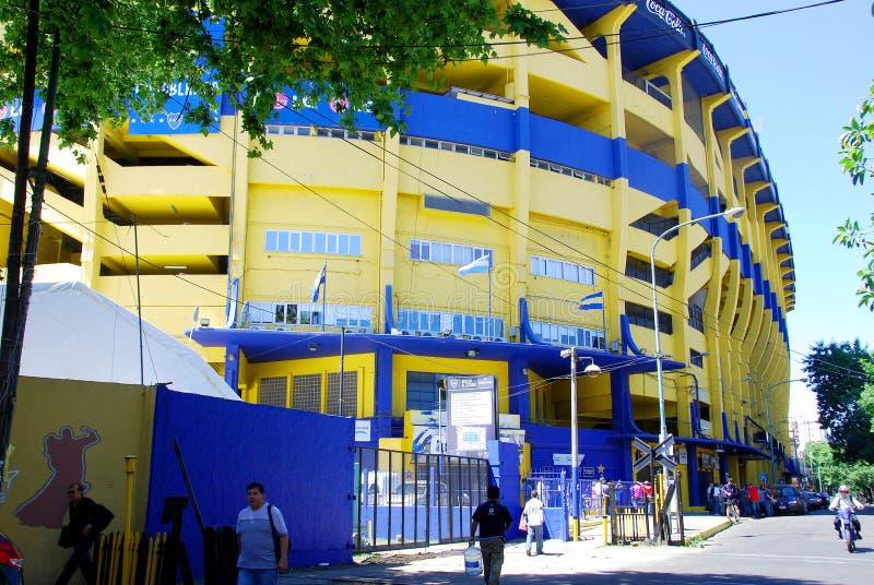 Στάδιο της ομάδας ποδοσφαίρου νεώτερων Boca στοκ εικόνα