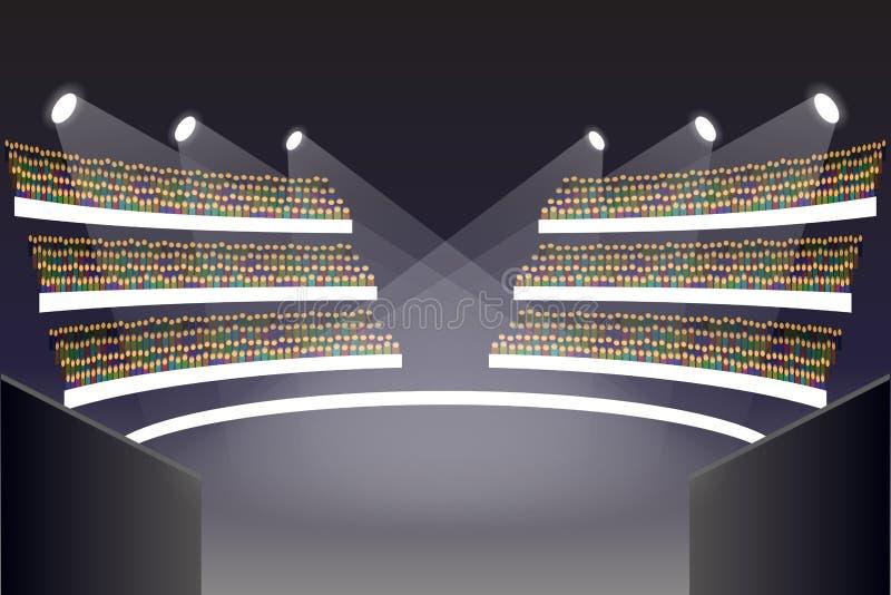 Στάδιο χώρων Coliseum απεικόνιση αποθεμάτων
