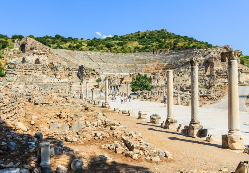 Στάδιο Ephesus, καταστροφές στοκ εικόνες