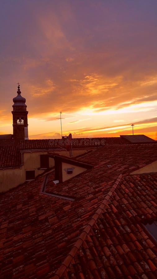 στέγες Βενετία στοκ φωτογραφίες
