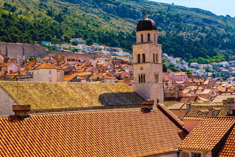 Στέγες σε Dubrovnik, Κροατία στοκ φωτογραφίες με δικαίωμα ελεύθερης χρήσης
