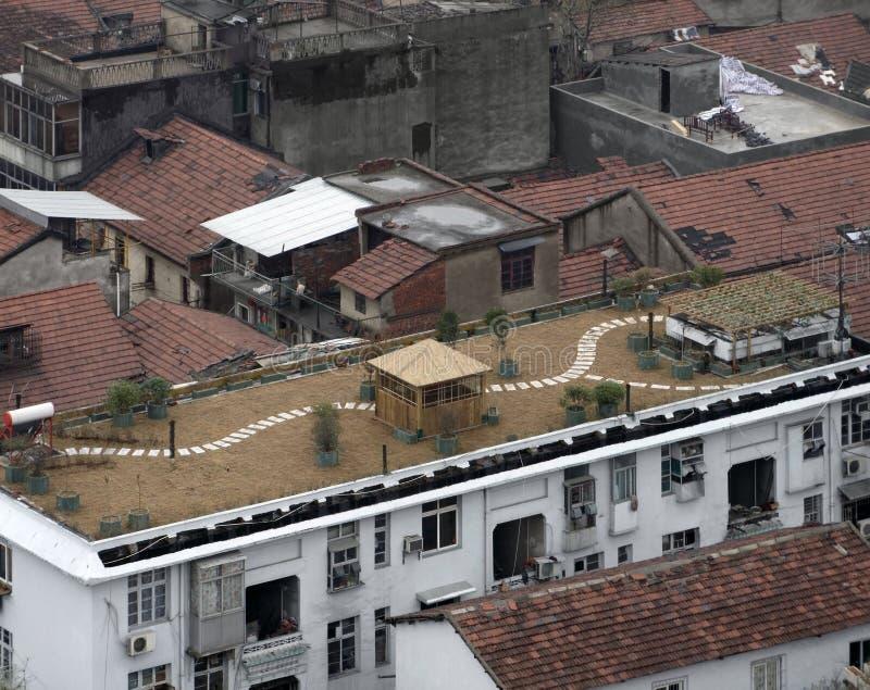 Στέγες σε Wuhan στοκ φωτογραφία
