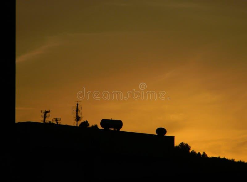Στέγες των Τιράνων στο ηλιοβασίλεμα, Αλβανία στοκ εικόνες με δικαίωμα ελεύθερης χρήσης