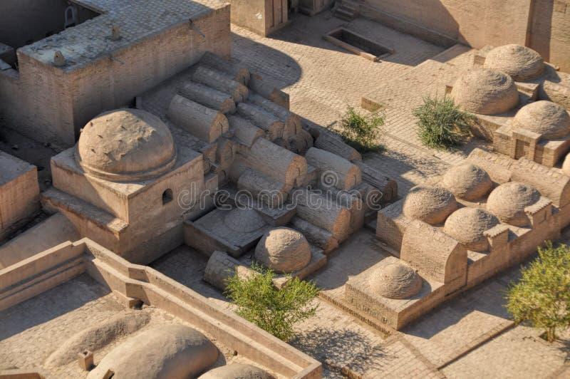 Στέγες Khiva στοκ εικόνες