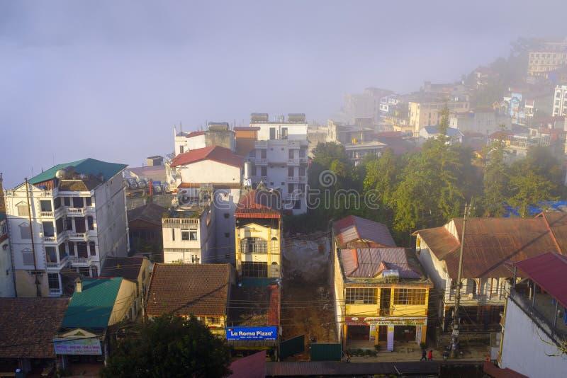 Στέγες SaPa στο Βιετνάμ στοκ εικόνες με δικαίωμα ελεύθερης χρήσης