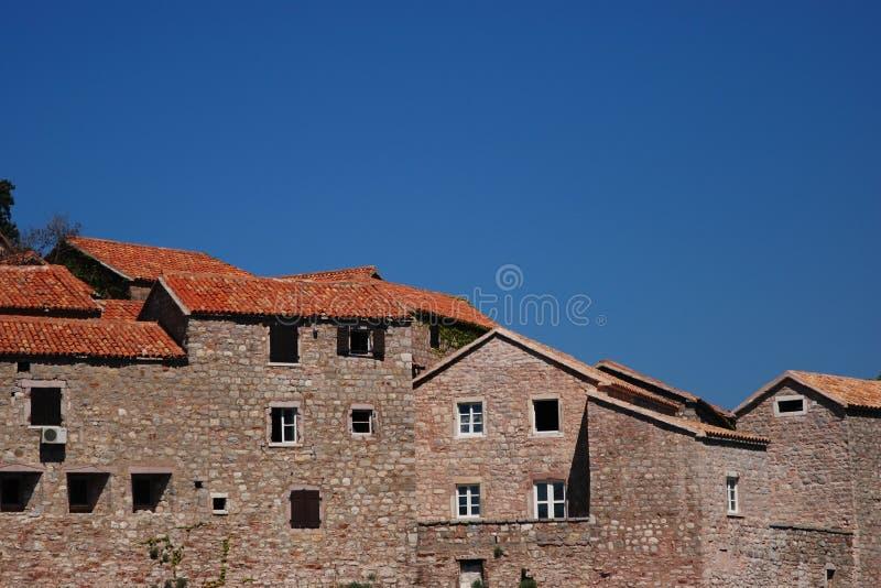 στέγες ST Stephan mpntenegro στοκ φωτογραφίες με δικαίωμα ελεύθερης χρήσης